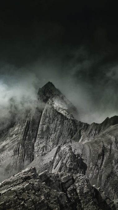 Mountains Fog Summit Wallpaper 1440x2560 380x676
