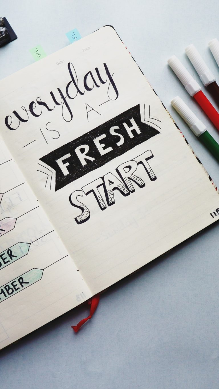 Notebook Inscription Markers Wallpaper 1440x2560 768x1365