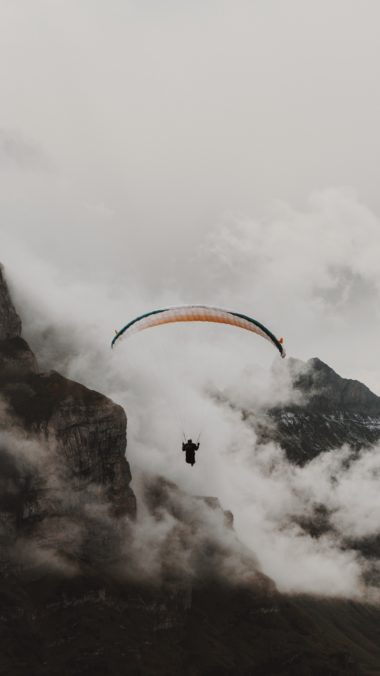 Paraglider Parachute Flying Wallpaper 1440x2560 380x676