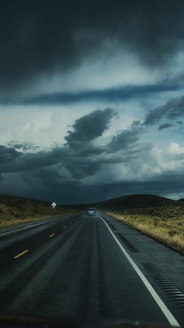 Road Clouds Auto Traffic Wallpaper 1440x2560 380x676