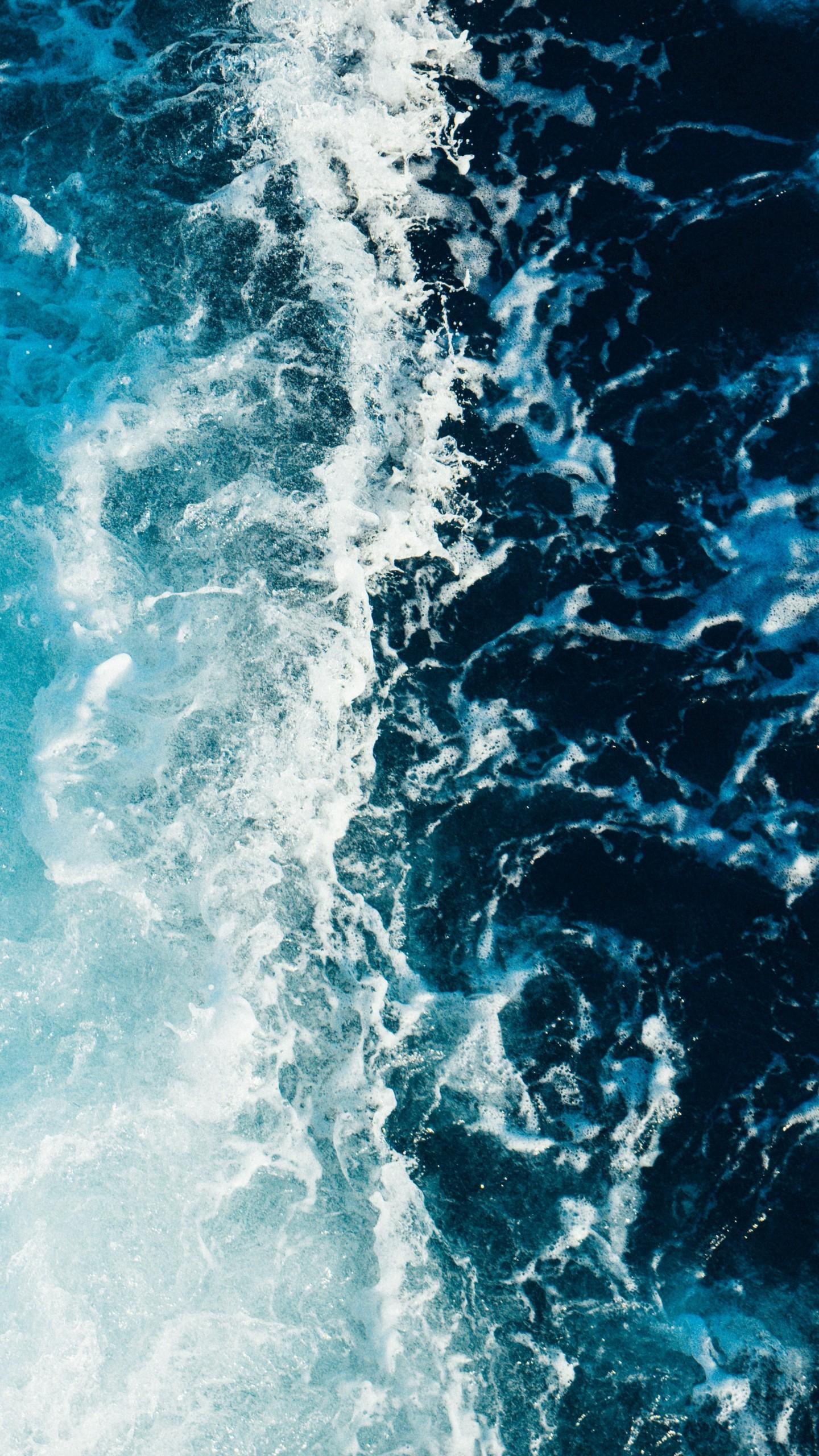 Sea Foam Surf Wallpaper 1440x2560