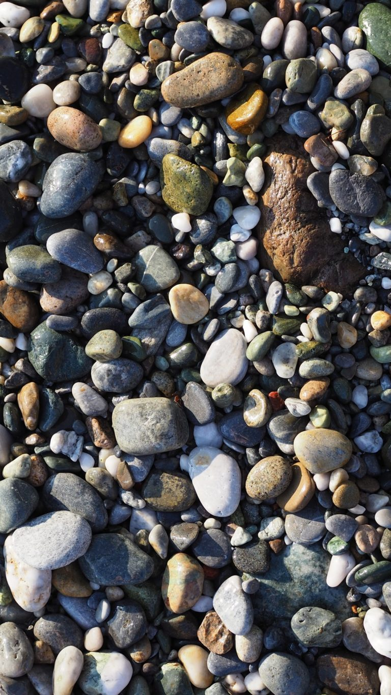 Sea Stones Shore Wet Wallpaper 1440x2560 768x1365