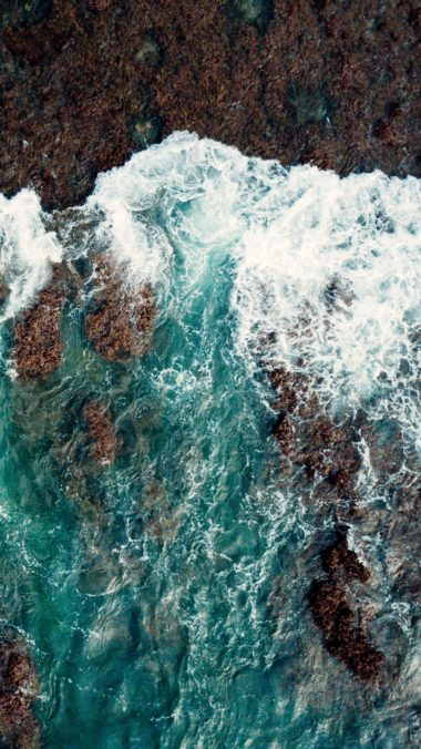 Sea Surf Shore Wallpaper 1440x2560 380x676