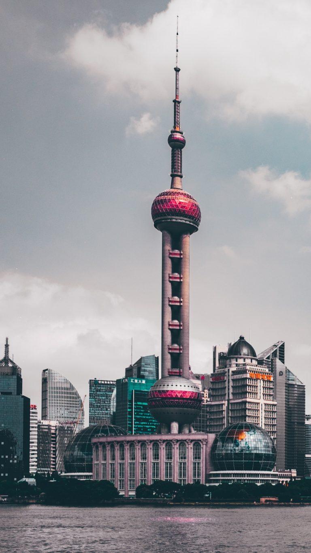 Shanghai China Skyscrapers Wallpaper 1440x2560 768x1365