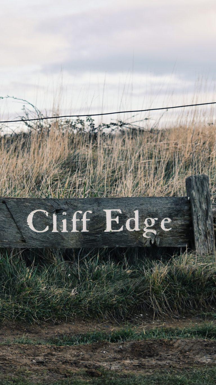 Signboard Inscription Field Grass Wallpaper 1440x2560 768x1365