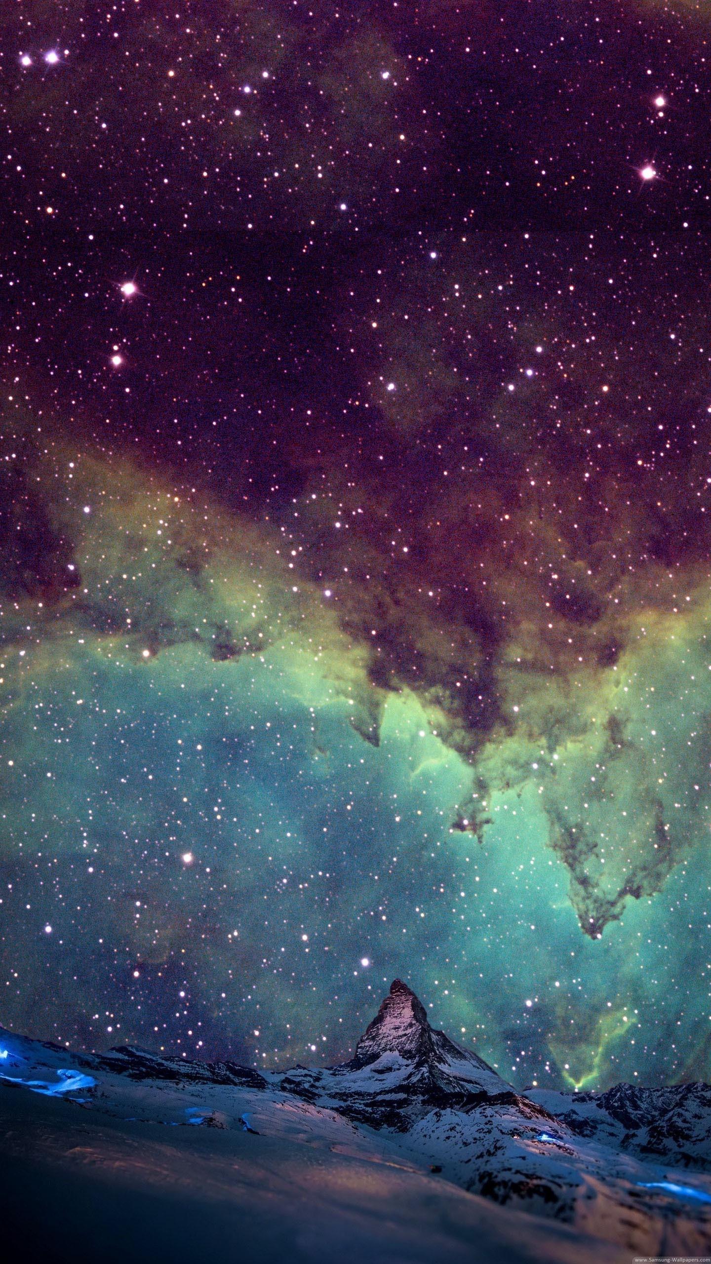 Stars In Galaxy Wallpaper - [1440x2560]