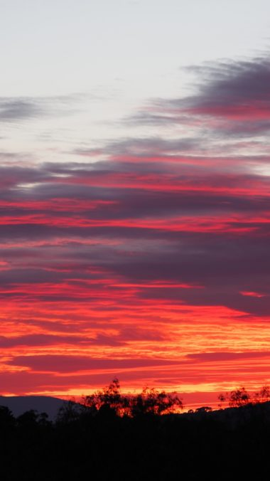 Sunset Sky Clouds Wallpaper 1440x2560 380x676