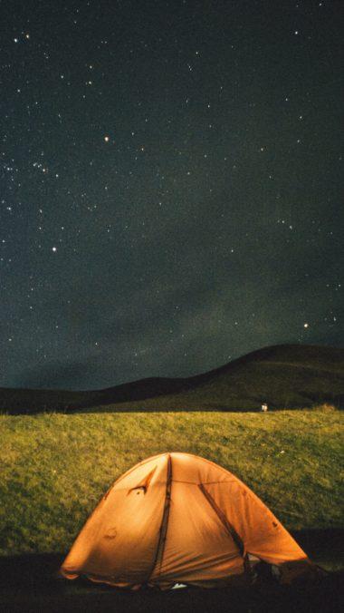 Tent Starry Sky Night Wallpaper 1440x2560 380x676