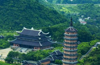 Trang An Bai Dinh Landscape Top View Wallpaper 1440x2560 340x220