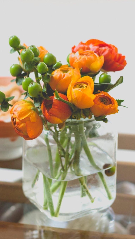 Vase Bouquet Flowers Wallpaper 1440x2560 768x1365