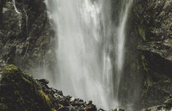 Waterfall Current Stones Wallpaper 1440x2560 340x220