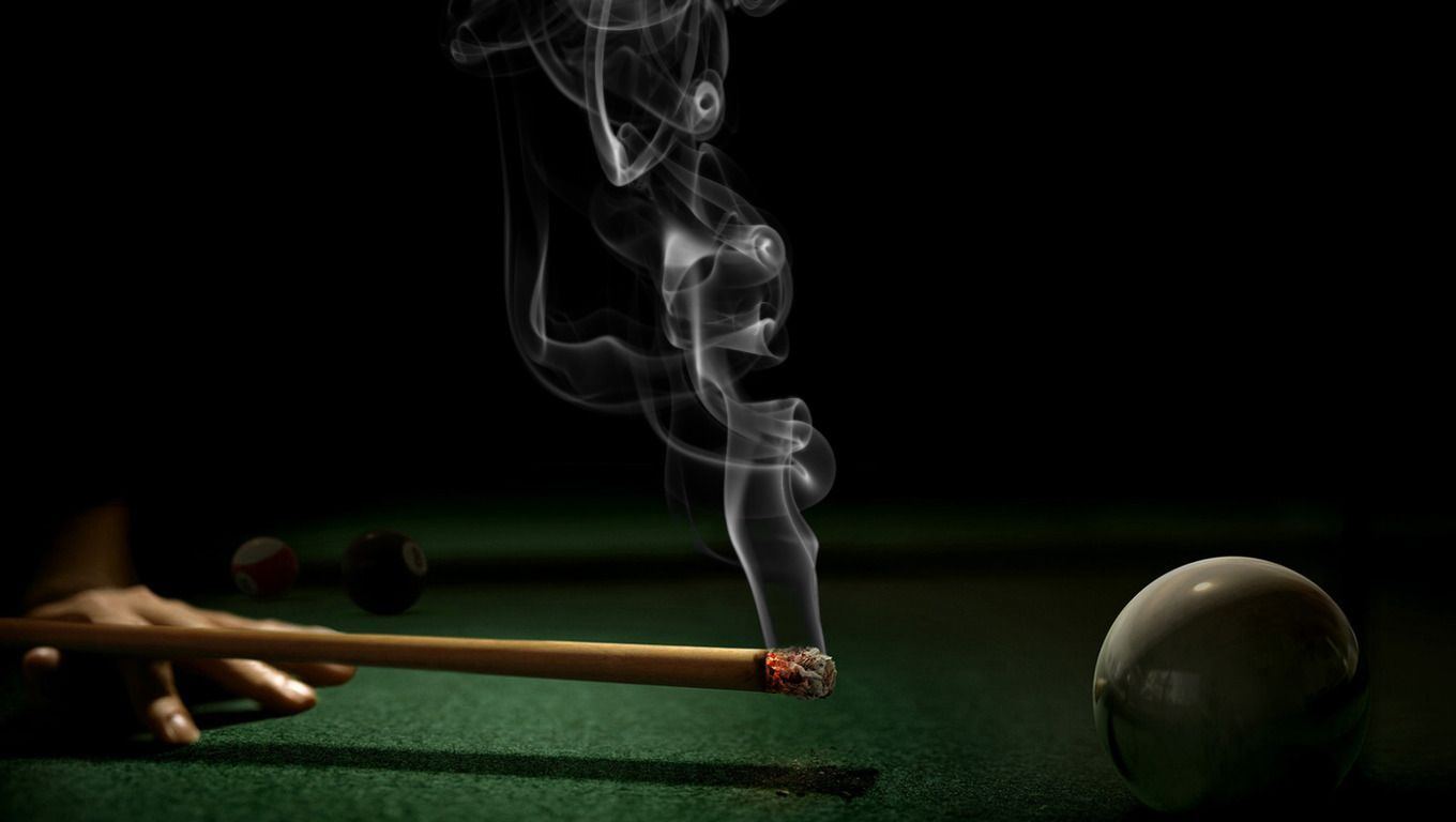 Billiards wallpaper 14 1360x768 - No smoking wallpaper download ...