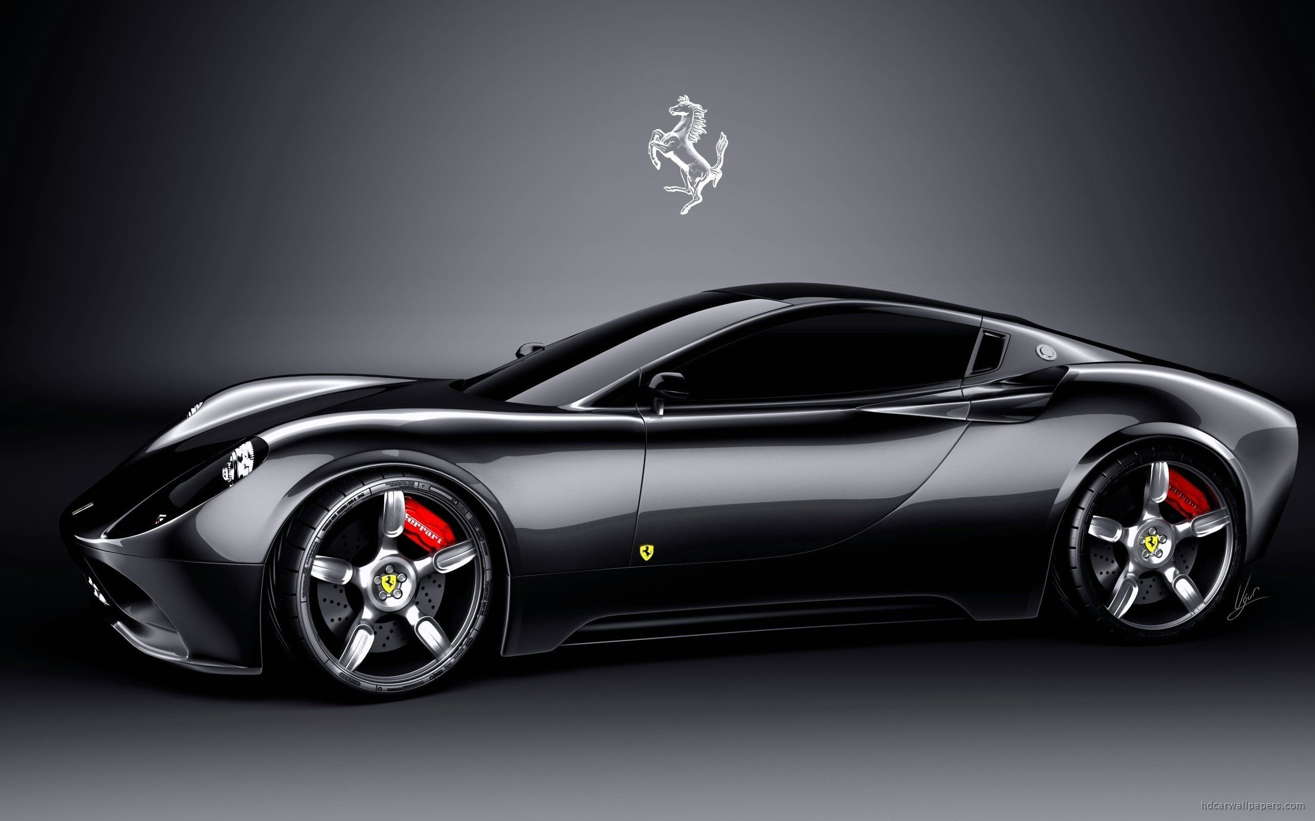 black ferrari car wallpapers hd