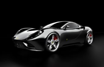 Black Ferrari Car Wallpaper 07 1600x1200 340x220
