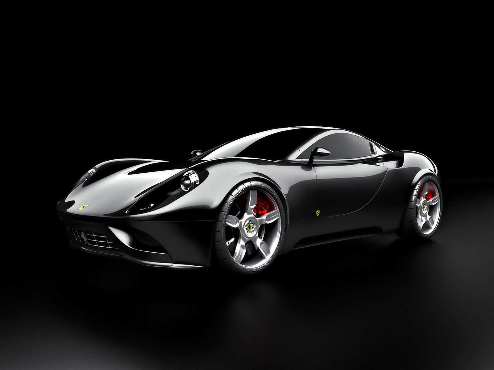 Black Ferrari Car Wallpaper 07 1600x1200 340x220
