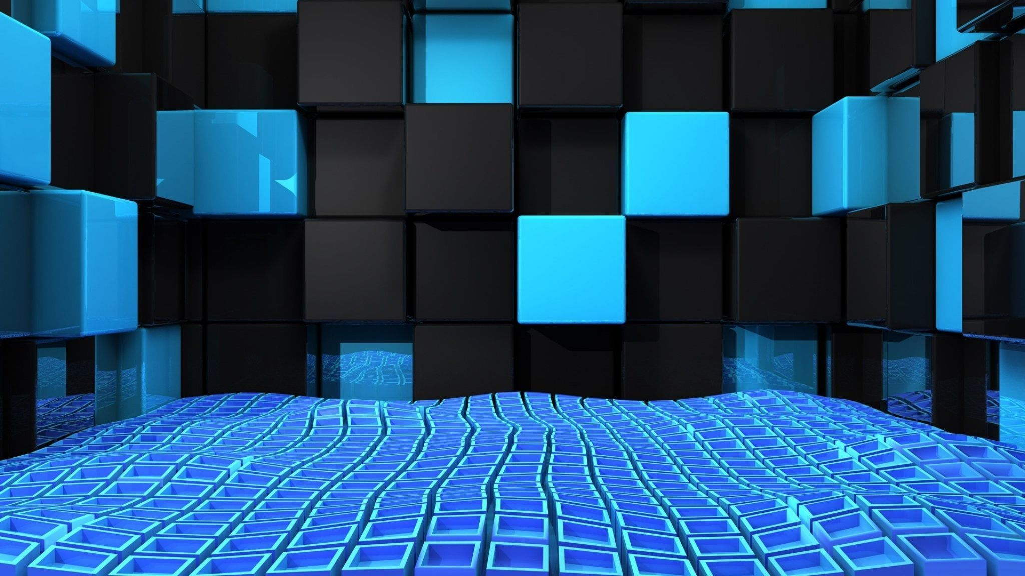 Blue And Black Wallpaper 36 2048x1152