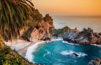 California Pacific Ocean Waterfall Wallpaper 1600x1280 340x220
