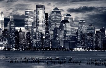 City Skyline Wallpaper 21 2560x1600 340x220