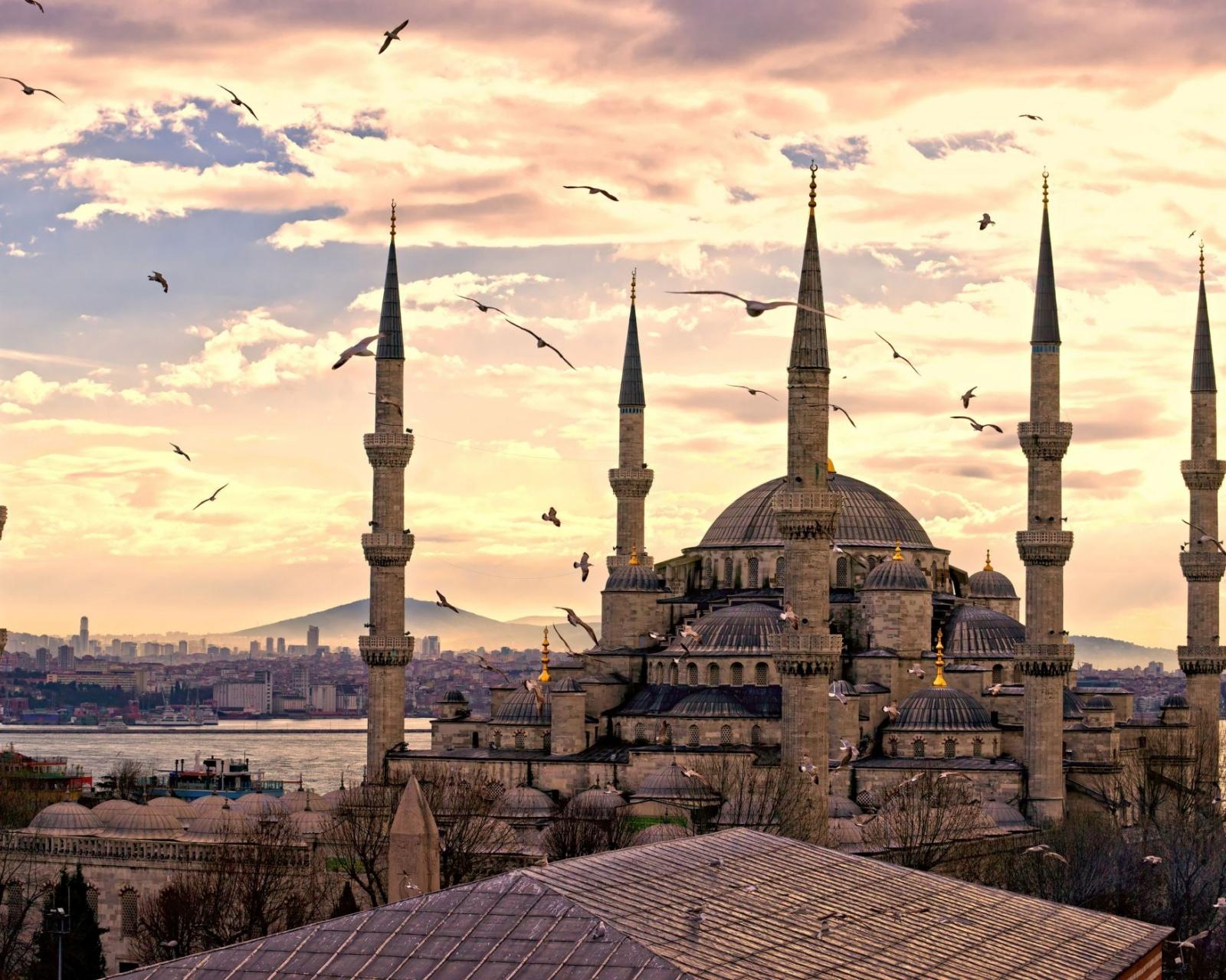 City Turkey Istanbul Sultanahmet Mosque Wallpaper