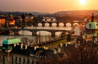 Cityscapes Old Czech History Flags Town Prague Rivers Wallpaper 1600x1280 340x220