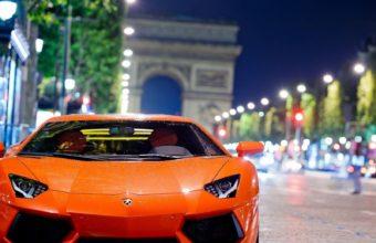 Lamborghini Aventador Night Shot Wallpaper 1600x1280 340x220