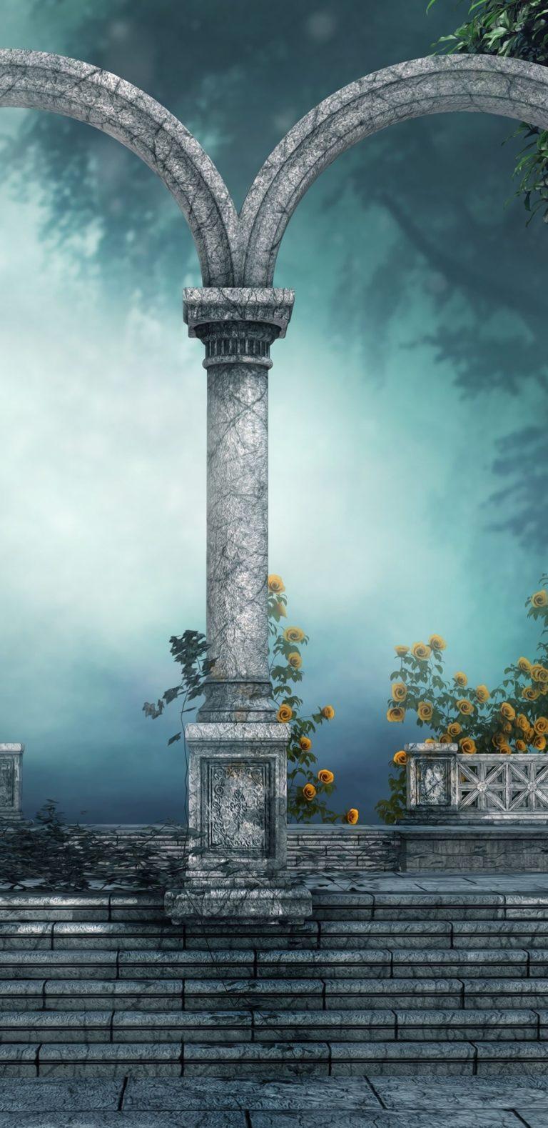 Arch Forest Gate Door 3d Art 1080x2220 768x1579