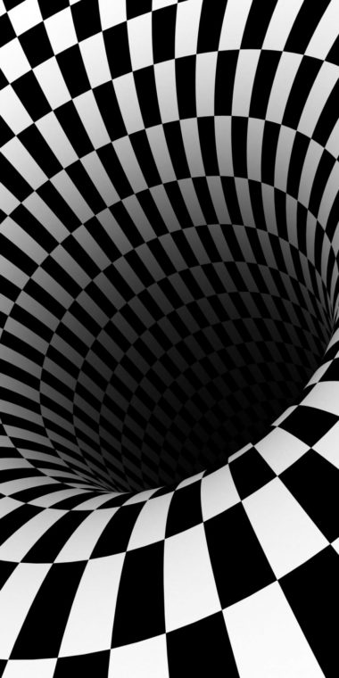Black Hole Checkered Vortex Optical Illusions 720x1440 380x760