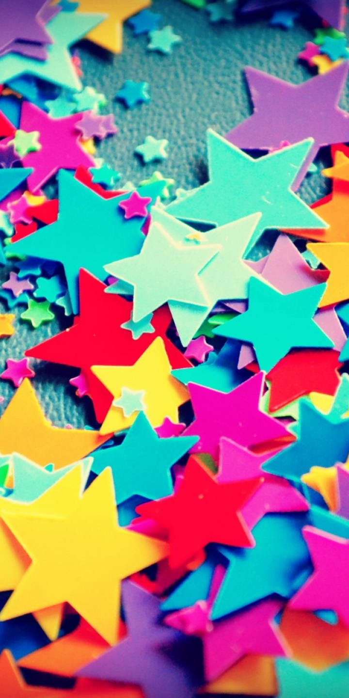 Bokeh Rainbow Stars Color Texture Pattern 720x1440