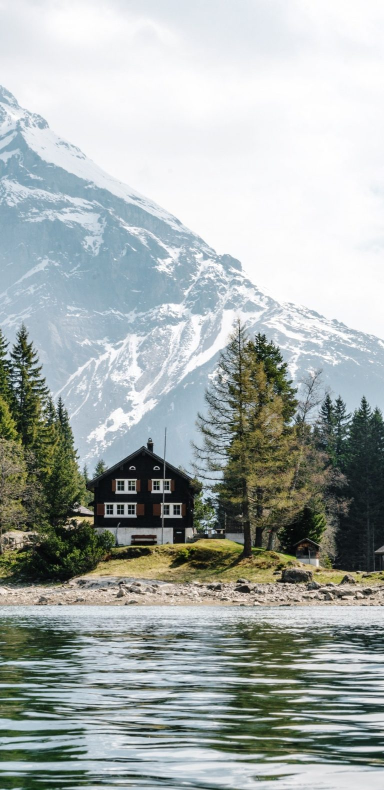 Clouds House Lake Landscape Mountain 1080x2220 768x1579