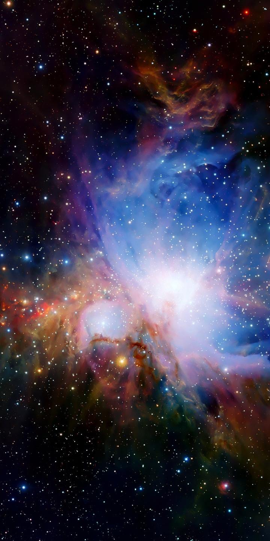 Colors Glow Nebula Pink Planets 720x1440