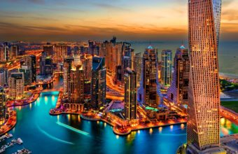 Dubai Marina Wallpaper 02 2880x2560 340x220
