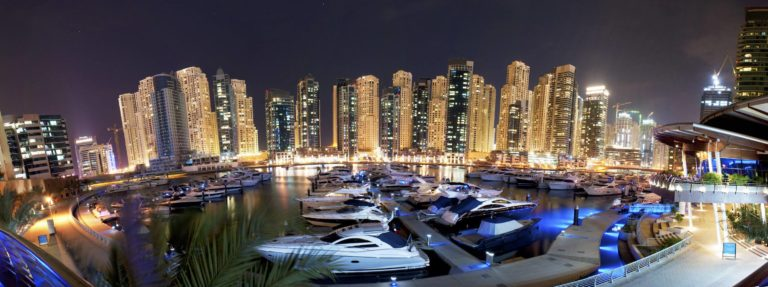 Dubai Marina Wallpaper 08 3000x1123 768x287