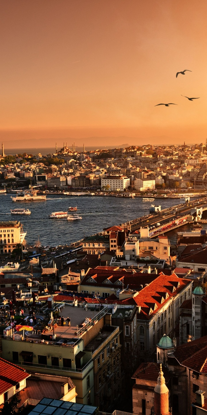 Evening Sunset Istanbul Turkey 720x1440
