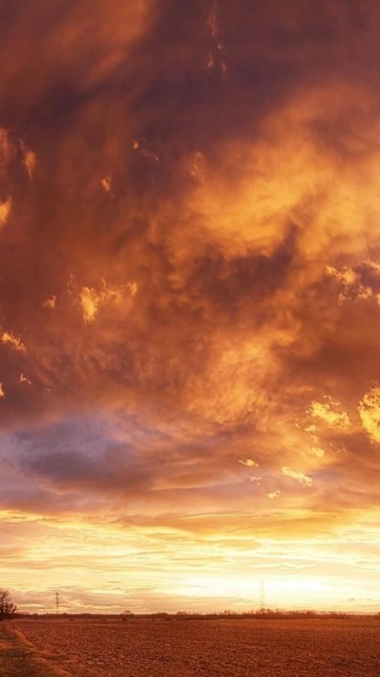 Landscapes Sky Clouds Sunsets Sunrise 540x960