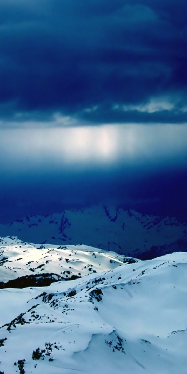 Mountains Clouds Landscapes Nature Snow 720x1440