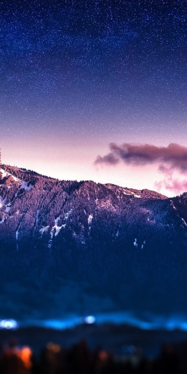 Mountains Stars Blur Bokeh Milky Way 720x1440 380x760