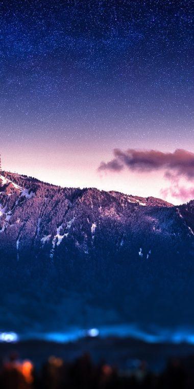 Mountains Stars Blur Bokeh Milky Way 720x1440