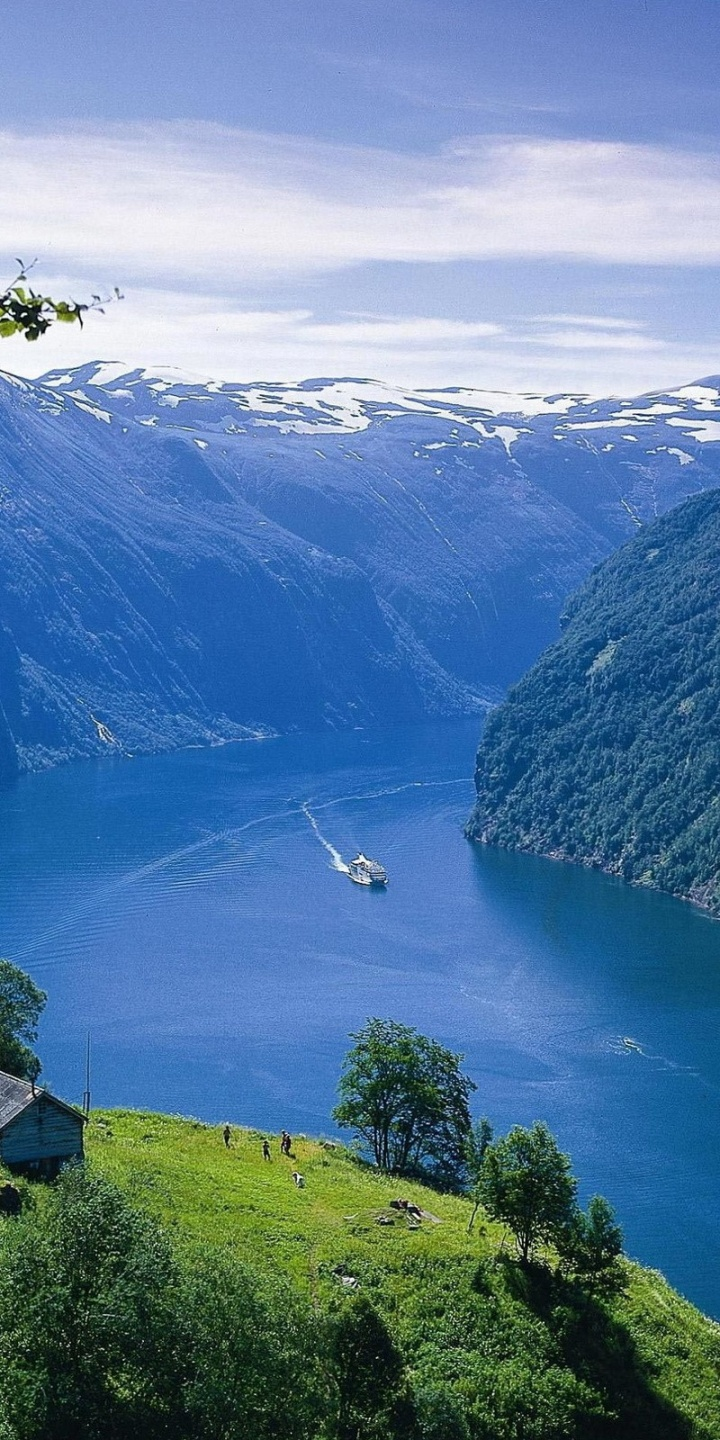 Nature Earth Norway Waterfalls Fjords 720x1440