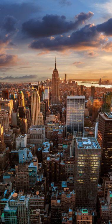 New York Nyc CityaeYaeY Dawn Skyscrapers 720x1440 380x760