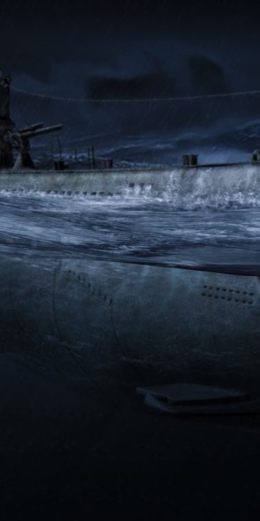 Ocean Night Submarine Art Military 720x1440 380x760