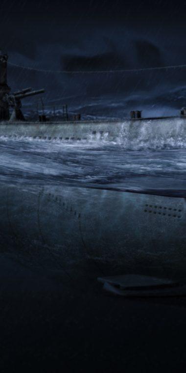Ocean Night Submarine Art Military 720x1440 380x760