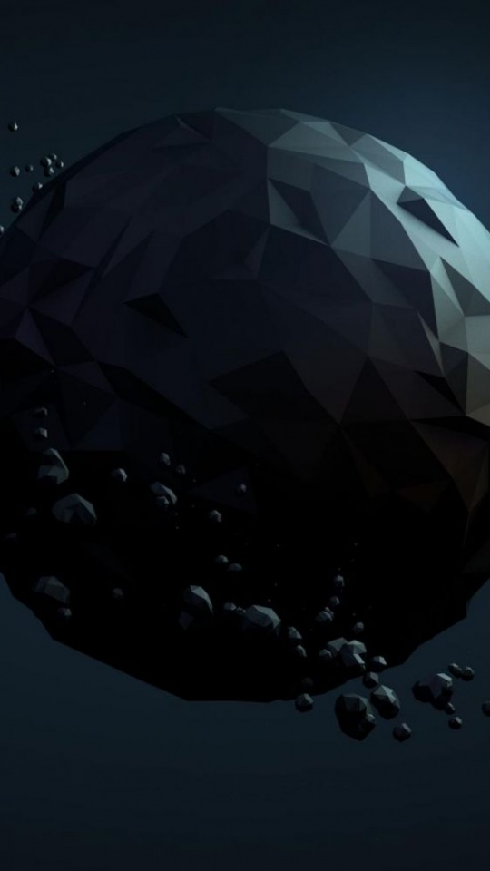 Planet Debris Abstract Polygon 540x960