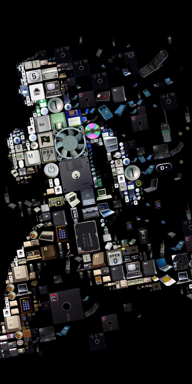 Run Pieces Disk Floppy Dist Black 720x1440