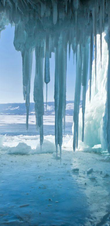 Russia Lake Winter Baikal Ice Nature 1080x2220 380x781