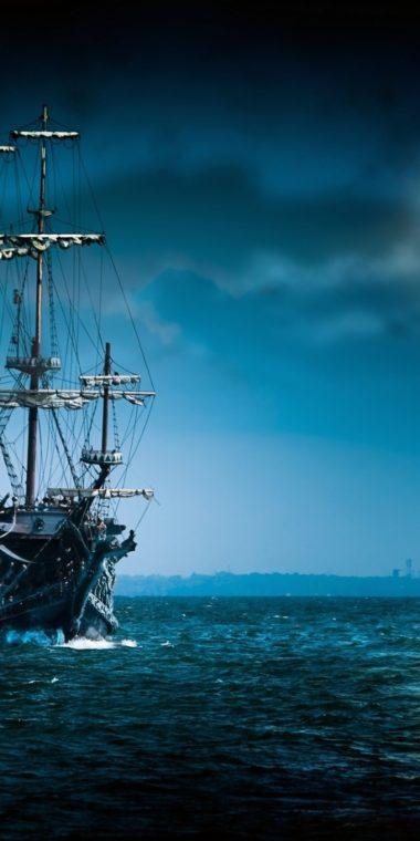 Sailboat Sea Moon Ship Boat Ocean 720x1440