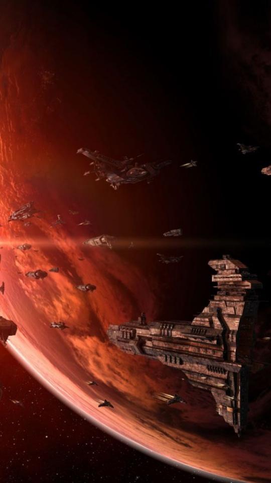 Sci Fi Game Spaceship 540x960