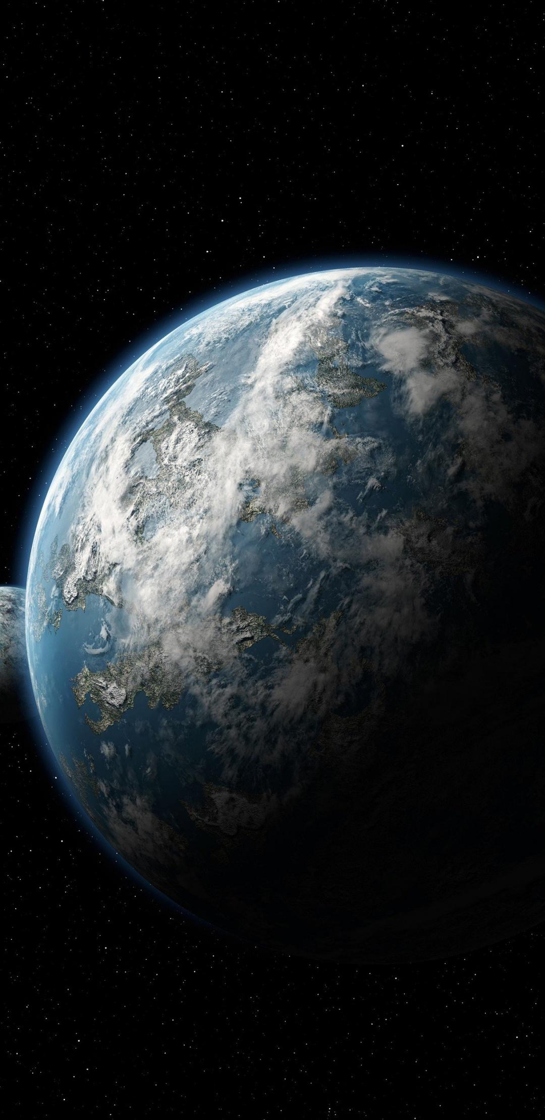 Scientific Space Planet Galaxy Stars - 1080x2220