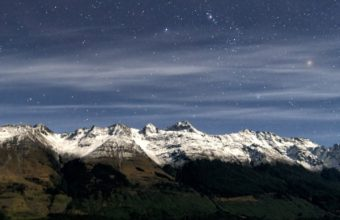 Snow Night Stars Fields New Zealand Lakes 720x1440 340x220