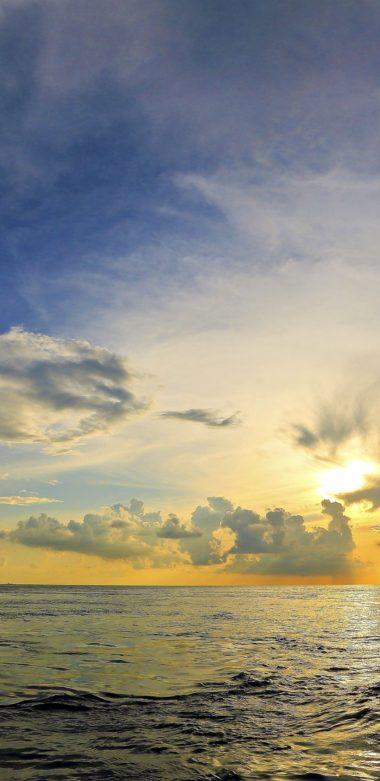 Sunset Sea Sky Landscape 1080x2220 380x781