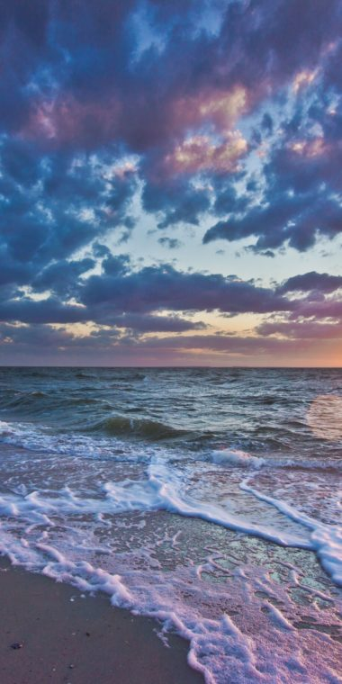 Sunset Sea Waves Coast Landscape 720x1440 380x760
